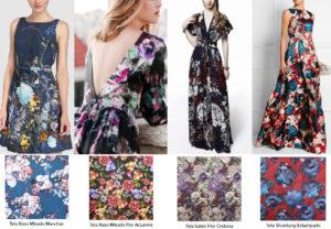 diferentes telas para los vestidos