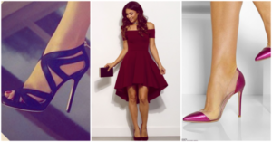 combinar el calzado con el vestido