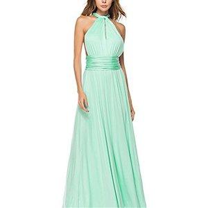 vestido verde de algodon