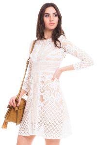 vestido blanco con encaje