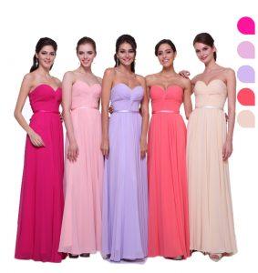 diferentes colores de vestidos
