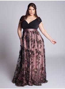 elegantes vestidos para gorditas cuello en v
