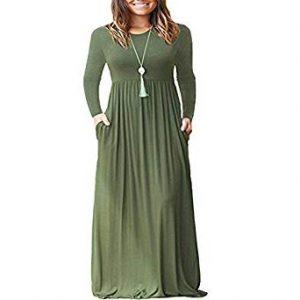 maxi vestido manga larga