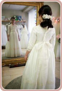 prueba de vestido de comunion
