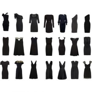 cortes de vestido negro