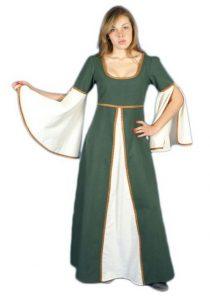traje de mujer medieval