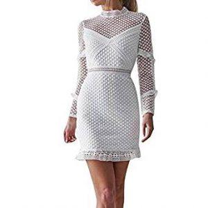vestido blanco de encaje basico