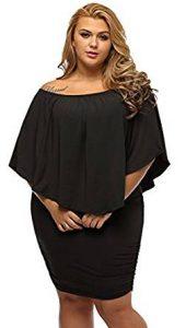 vestido negro basico para gorditas