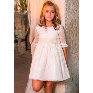 vestido blanco de niña