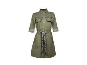 vestido camisero militar