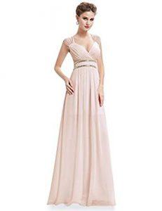 vestid de ceremonia rosa palo