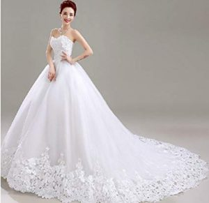 vestido de novia con escote de corazon