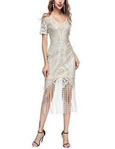 vestido con flecos