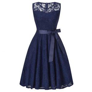 vestido corto de encaja