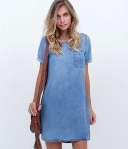vestido corto de jean