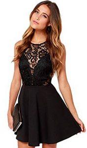vestido corto negro de noche