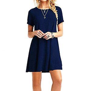 vestido corto sencillo