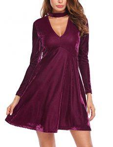 vestido de terciopelo corto