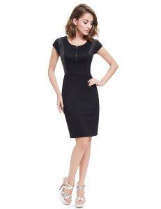 vestido de coctel basico negro