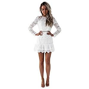 vestidos de coctel blanco
