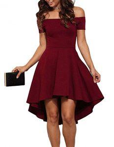 vestido de coctel vinotinto