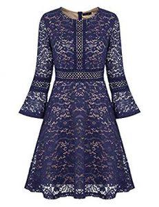 vestido de coctel con encaje