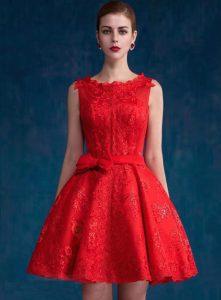 vestido de coctel rojo
