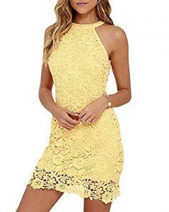 vestido de encaje amarillo