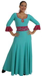 vestido de flamenca colorido