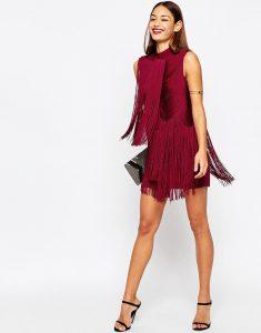 vestido de flecos