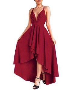 vestido asimetrico de gala