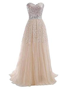 vestido de gala con brillos