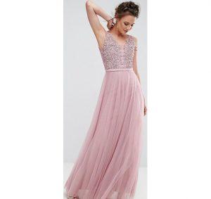 vestido de graduacion rosa