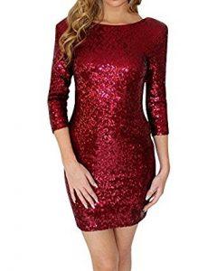 vestidos de lentejuelas rojas