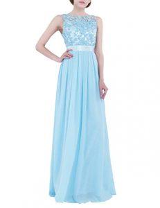 vestido vaporoso azul