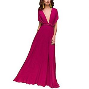 vestido de noche colorido