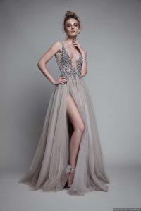 vestido de noche con escote