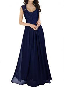 vestido elegante de chiffon