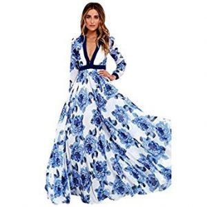 vestido floreado manga larga
