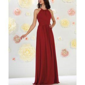Vestidos largos elegantes vinotinto