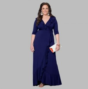 vestido largo talla grande