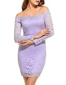 vestido de encaje lila