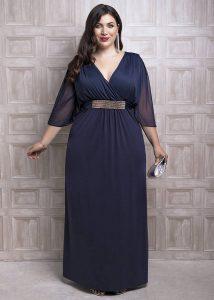 vestido de madrina talla grande