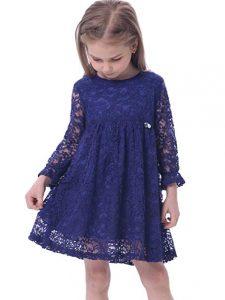 vestido manga larga de niña
