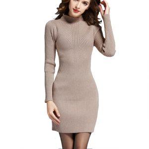 vestido manga larga grueso