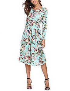 vestido midi con flores
