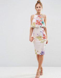 vestido midi floreado