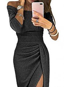 vestido negro brillante