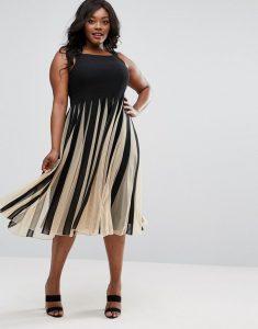 vestido negro de lineas para gorditas