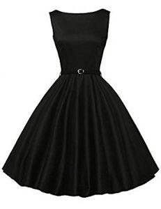 vestido negro con correa